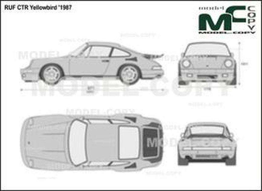 RUF CTR Yellowbird '1987 - 2D drawing (blueprints)