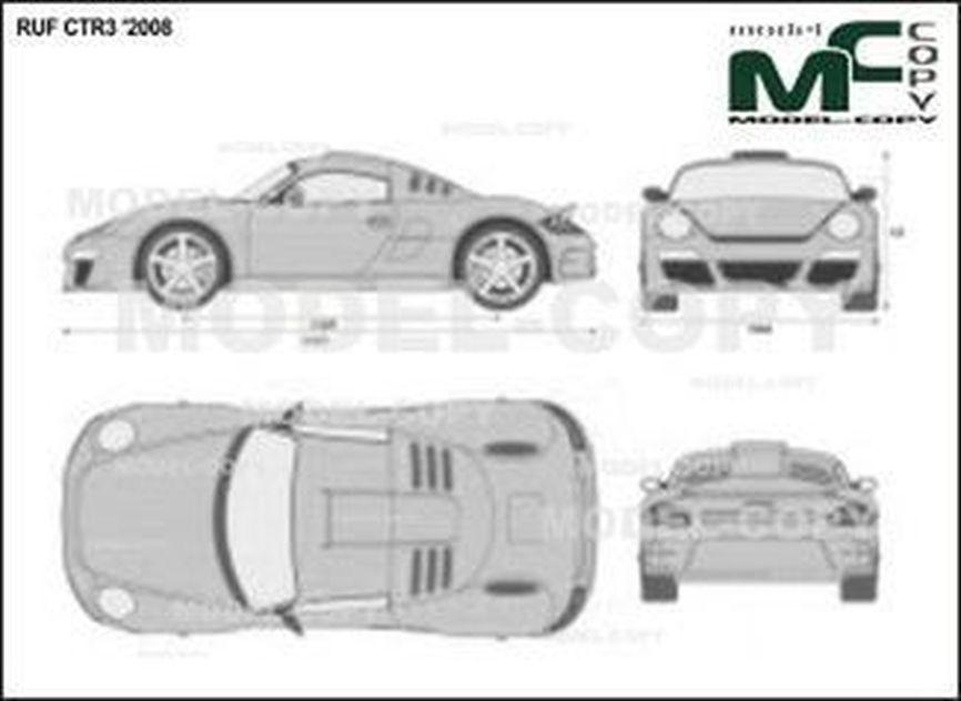 RUF CTR3 '2008 - 2D図面