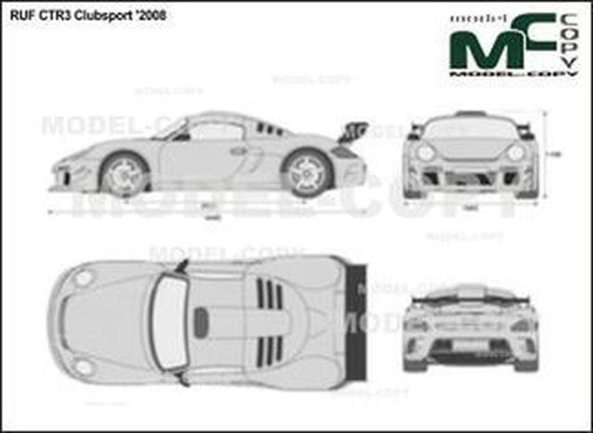 RUF CTR3 Clubsport '2008 - 2D drawing (blueprints)