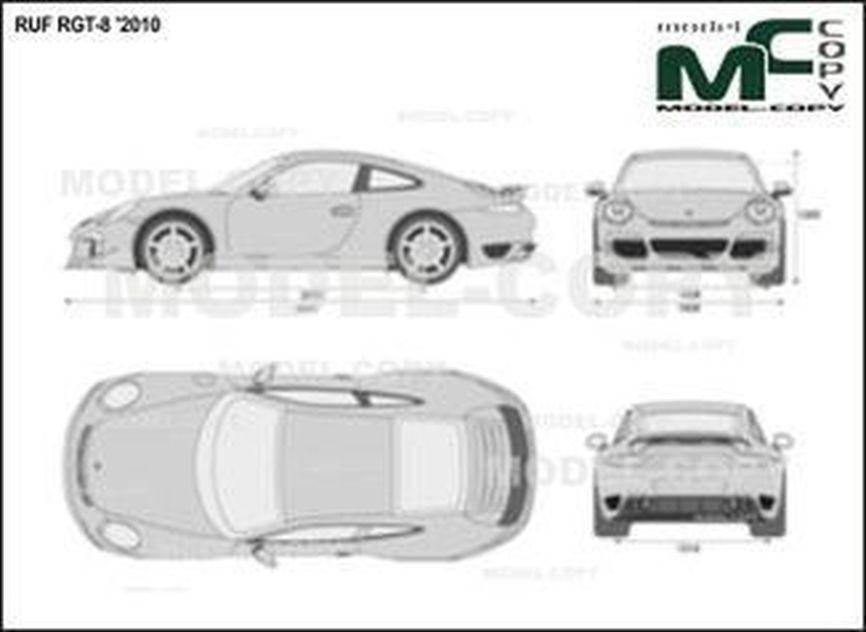 RUF RGT-8 '2010 - 2D drawing (blueprints)