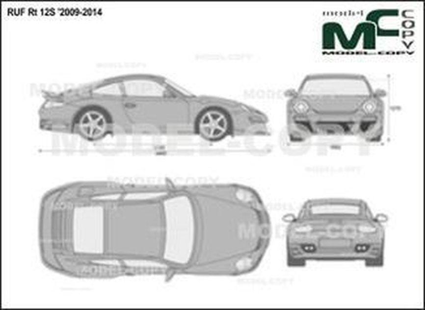 RUF Rt 12S '2009-2014 - 2D drawing (blueprints)