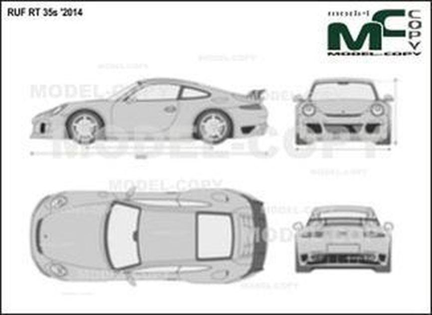 RUF RT 35s '2014 - 2D drawing (blueprints)
