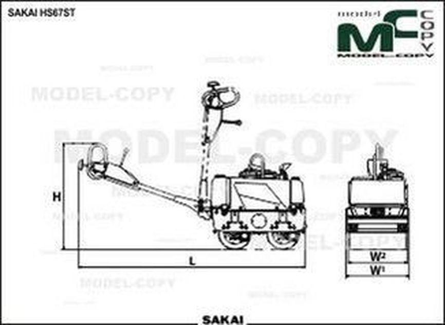 SAKAI HS67ST - 2D-Zeichnung