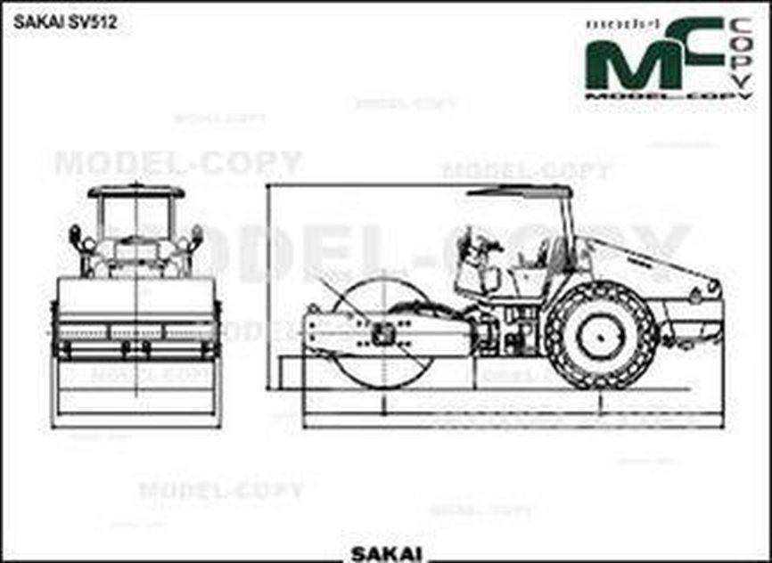 SAKAI SV512 - drawing