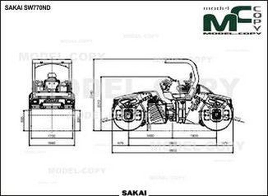 SAKAI SW770ND - 2D drawing (blueprints)