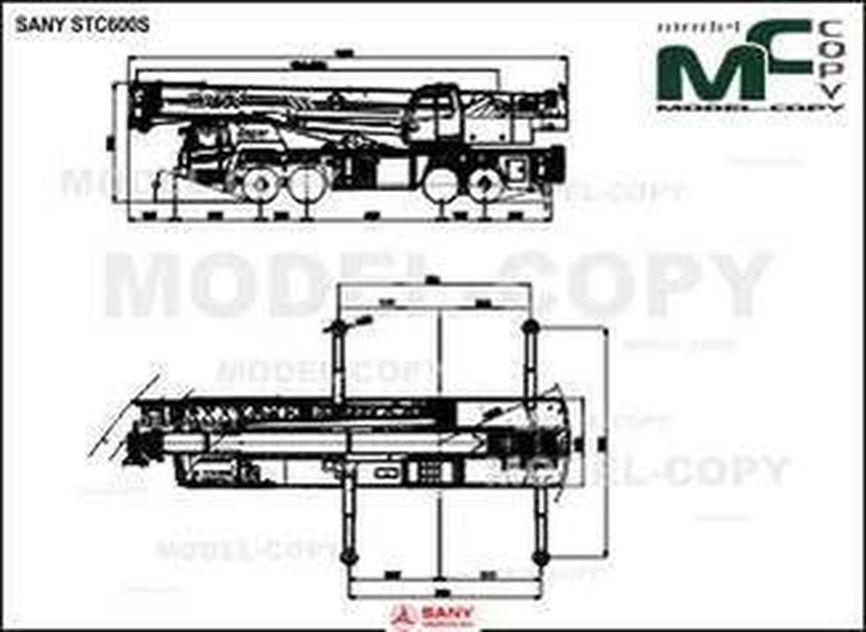 SANY STC600S - 2D drawing (blueprints)