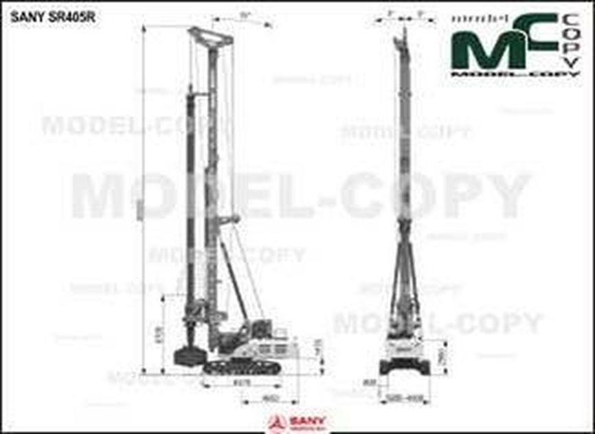 SANY SR405R - 2D drawing (blueprints)