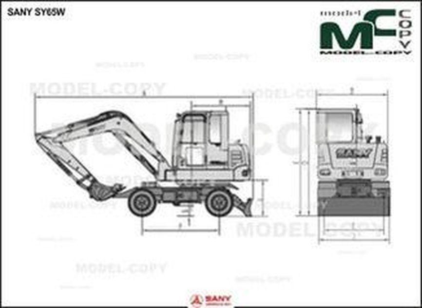 SANY SY65W - 2D drawing (blueprints)