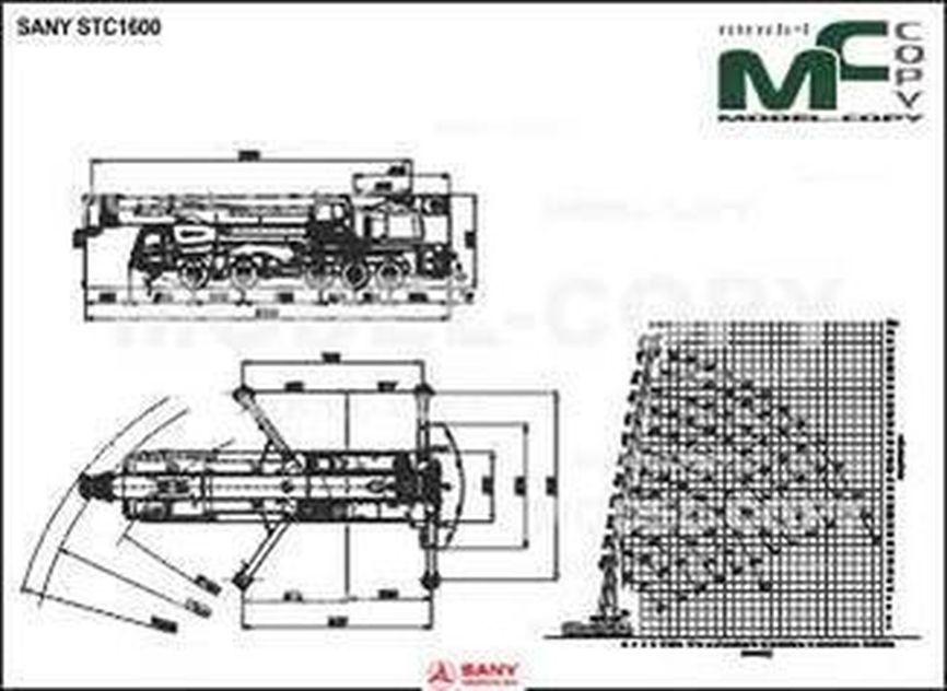 SANY STC1600 - 2D drawing (blueprints)