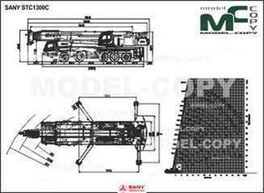 SANY STC1300C - 2D drawing (blueprints)