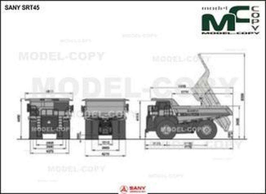 SANY SRT45 - Dibujo 2D