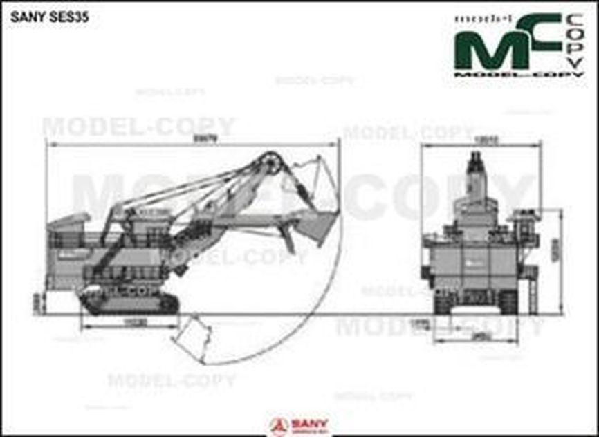 SANY SES35 - Rysunek 2D