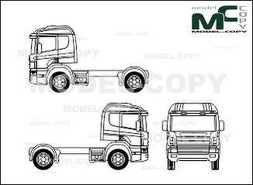 scania series 4  cp-19  2axle  tractor - dibujo - 28250