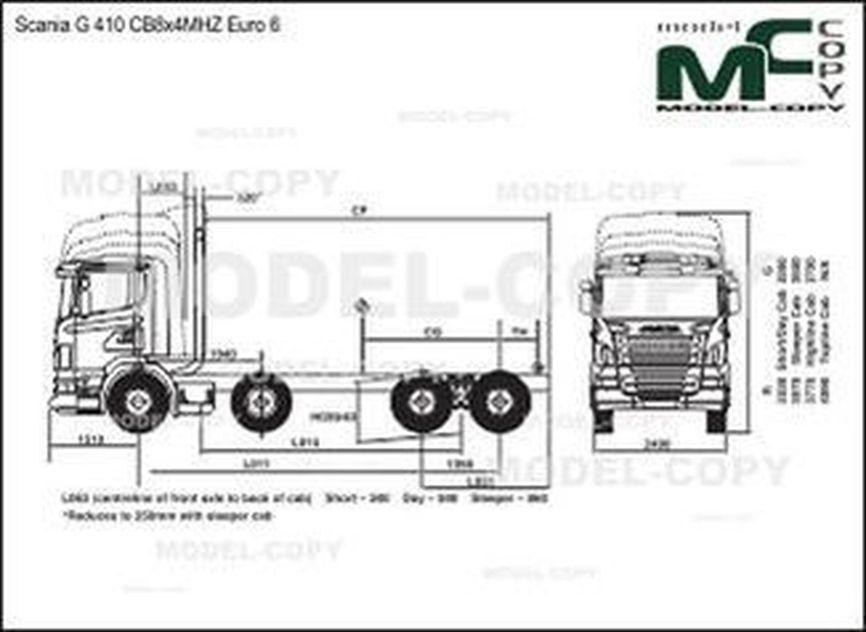 Scania G 410 CB8x4MHZ Euro 6 - drawing