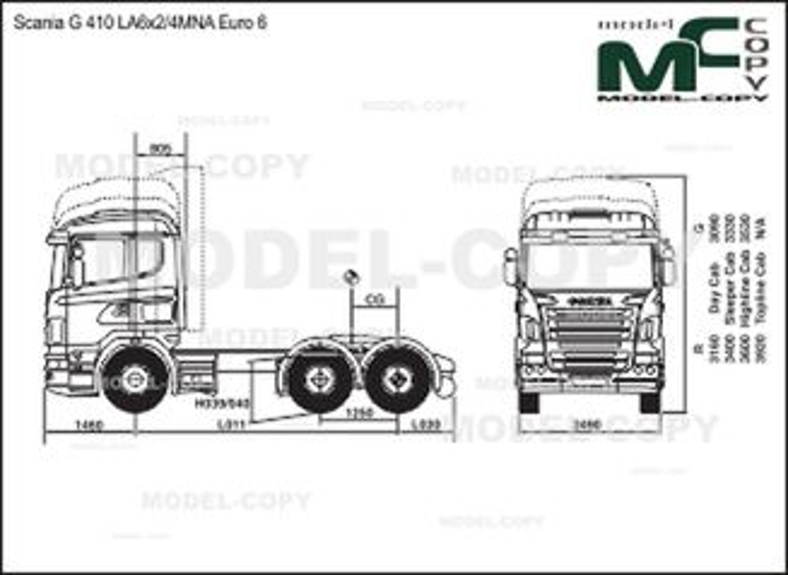 Scania G 410 LA6x2/4MNA Euro 6 - drawing