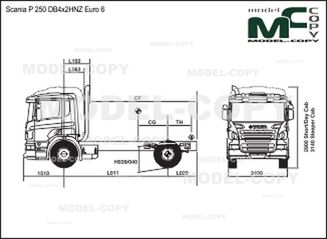 Scania P 250 DB4x2HNZ Euro 6 - drawing