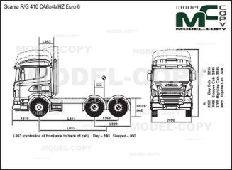 Scania R/G 410 CA6x4MHZ Euro 6 - drawing