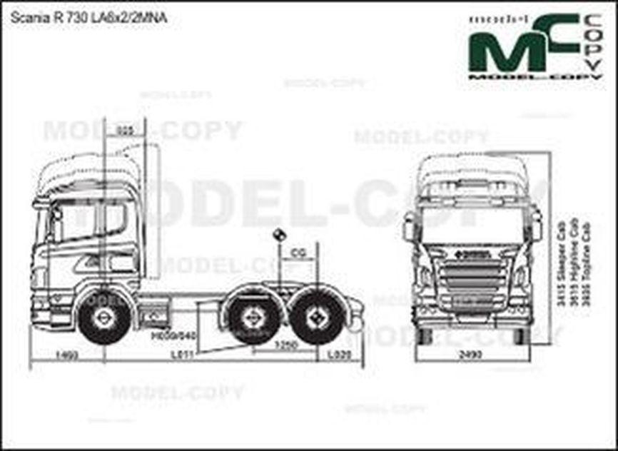 Scania R 730 LA6x2/2MNA - drawing