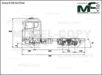 Scania R 580 6x4 Puller - drawing