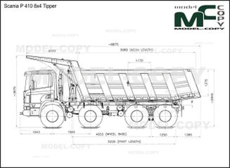 Scania P 410 8x4 Tipper - drawing