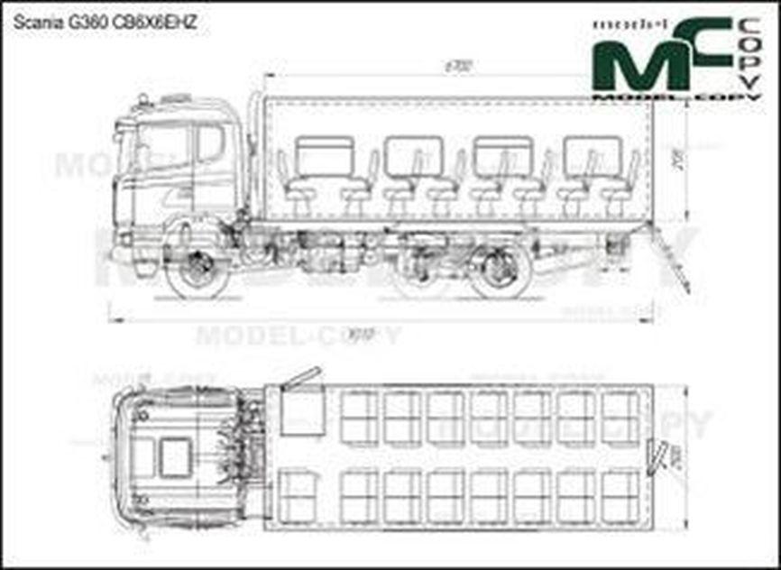 Scania G360 CB6X6EHZ - drawing
