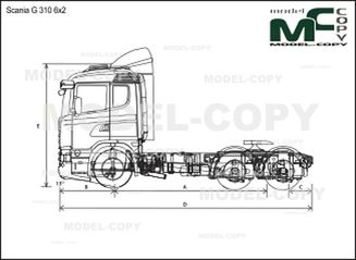Scania G 310 6x2 - drawing