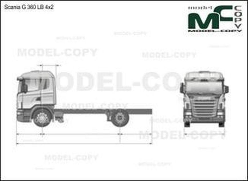 Scania G 360 LB 4x2 - drawing
