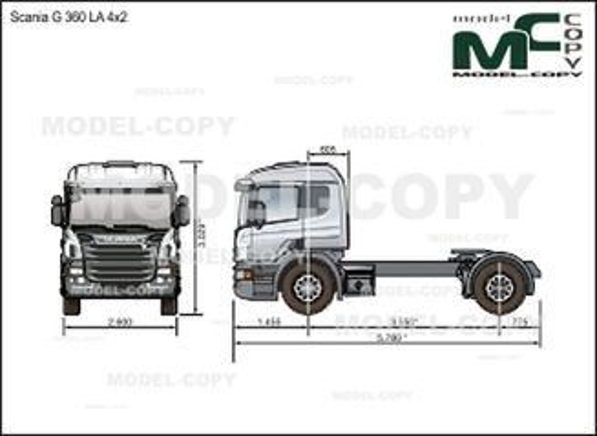 Scania G 360 LA 4x2 - drawing