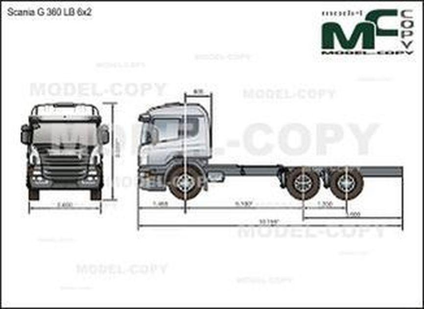 Scania G 360 LB 6x2 - drawing