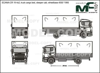 SCANIA CR 19 4x2, truck cargo bed, sleeper cab, wheelbase 4500 '1995 - 2D drawing (blueprints)