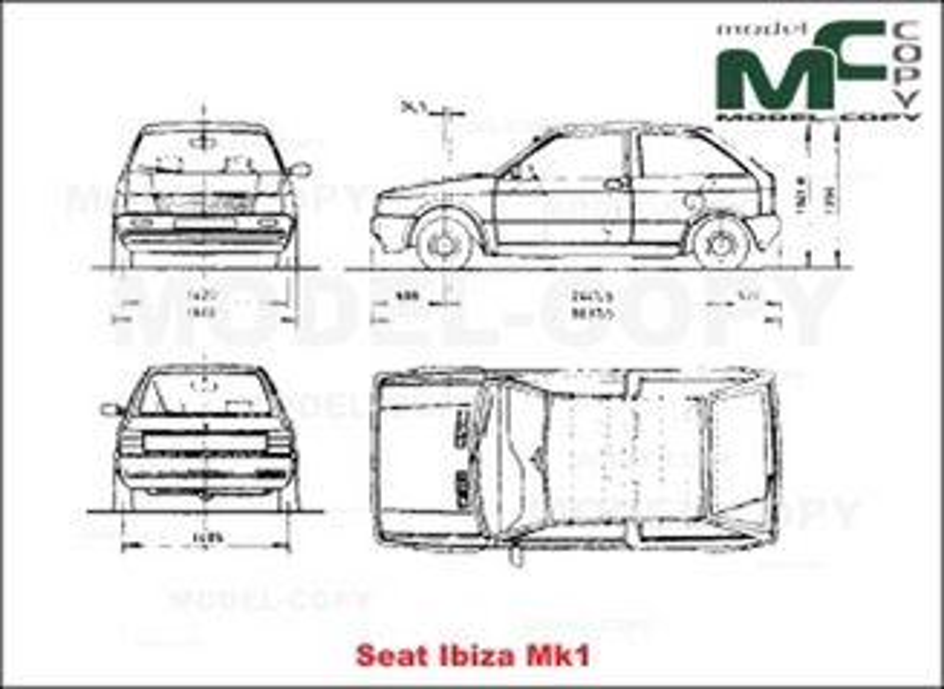 seat ibiza mk1 - dessin - 19913