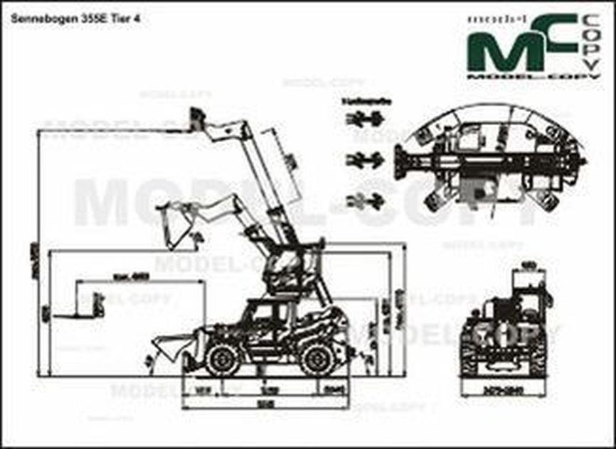 Sennebogen 355E Tier 4 - 2D drawing (blueprints)