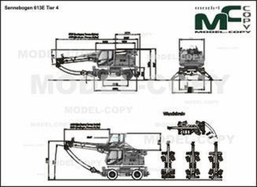 Sennebogen 613E Tier 4 - 2D drawing (blueprints)