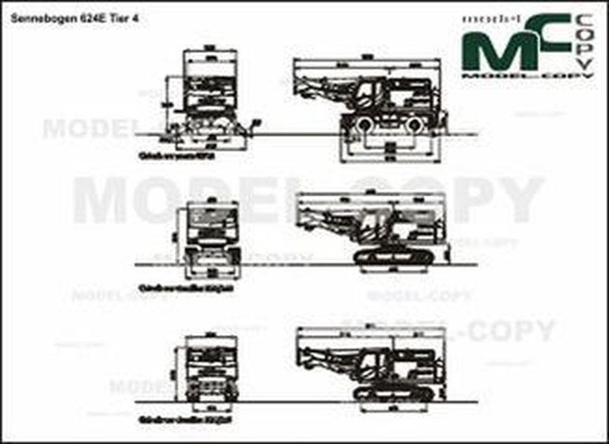 Sennebogen 624E Tier 4 - 2D drawing (blueprints)