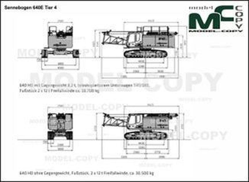 Sennebogen 640E Tier 4 - 2D drawing (blueprints)