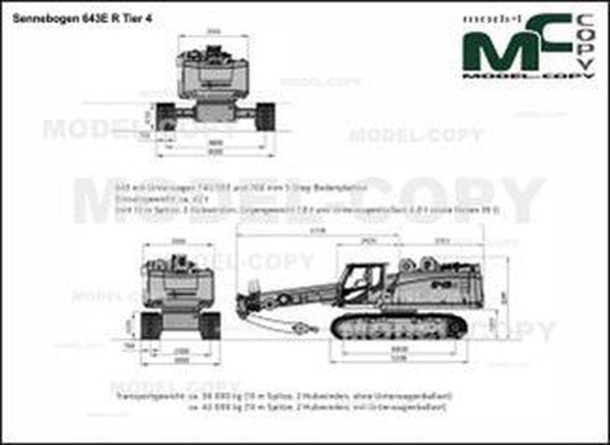 Sennebogen 643E R Tier 4 - 2D drawing (blueprints)