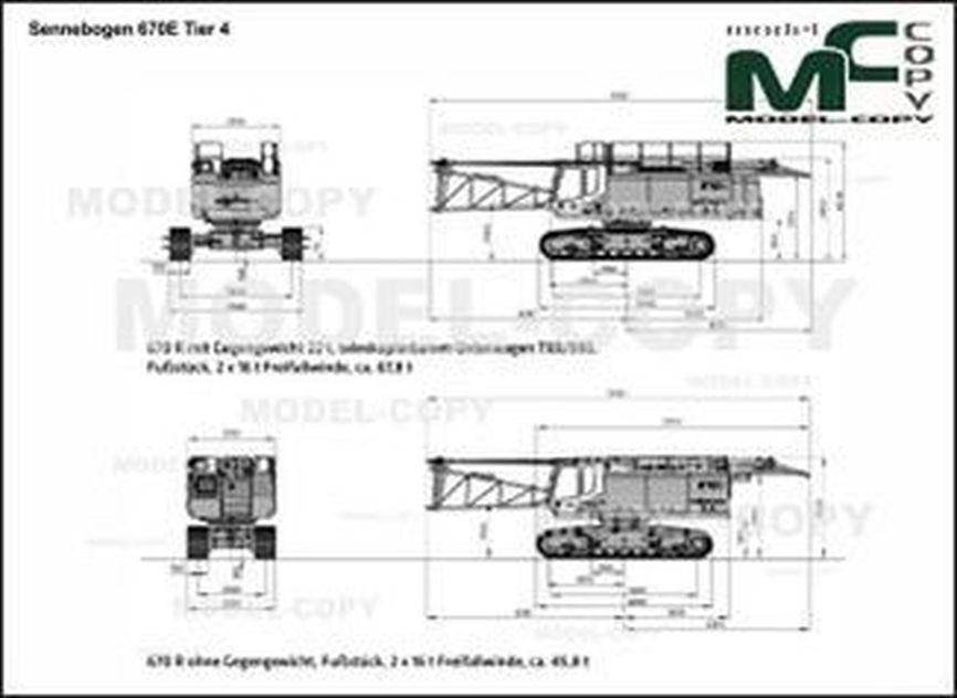 Sennebogen 670E Tier 4 - 2D drawing (blueprints)