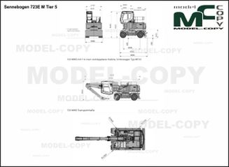 Sennebogen 723E M Tier 4 - 2D drawing (blueprints)