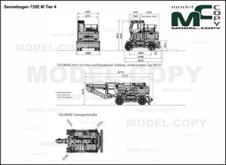 Sennebogen 735E M Tier 4 - drawing