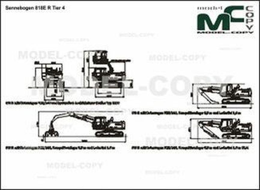Sennebogen 818E R Tier 4 - 2D drawing (blueprints)