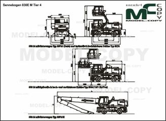 Sennebogen 830E M Tier 4 - 2D drawing (blueprints)