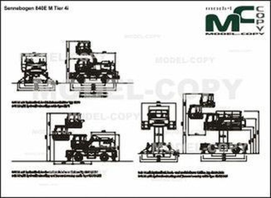 Sennebogen 840E M Tier 4i - 2D drawing (blueprints)