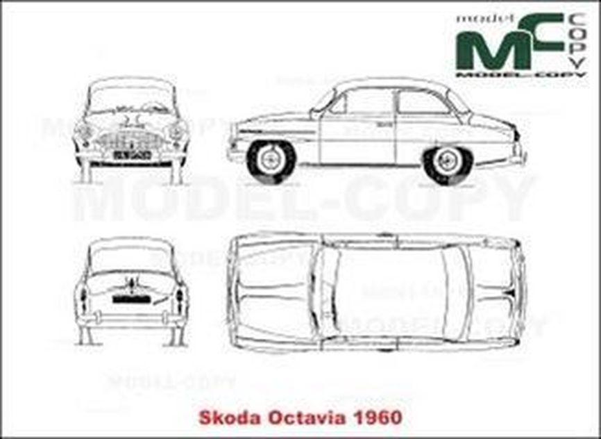 skoda octavia  1960  - drawing - 19952