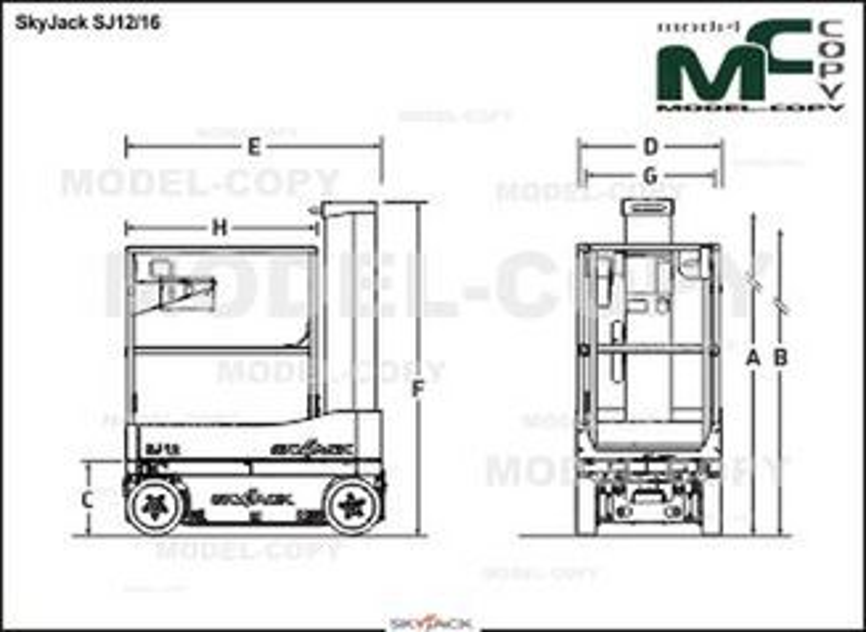 SkyJack SJ12/16 - 2D drawing (blueprints)
