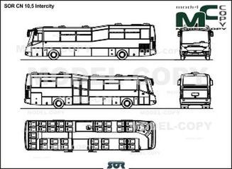 SOR CN 10,5 Intercity - 2D drawing (blueprints)