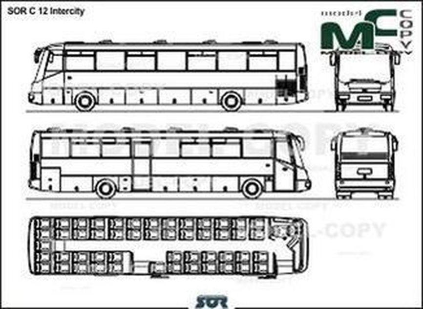 SOR C 12 Intercity - 2D drawing (blueprints)