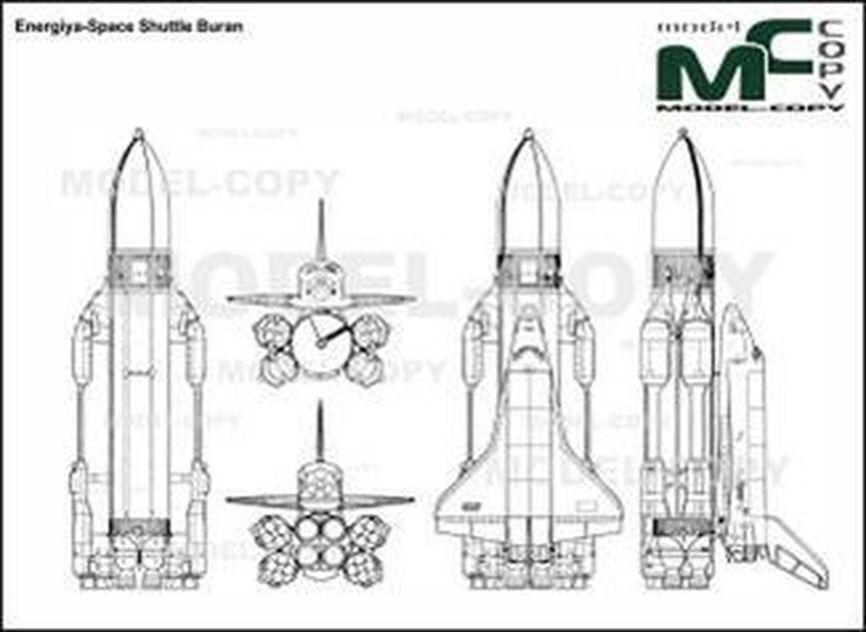 Energiya-Space Shuttle Buran - drawing