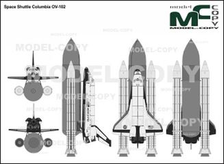 Space Shuttle Columbia OV-102 - drawing