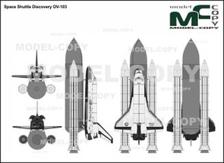 Space Shuttle Discovery OV-103 - drawing