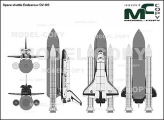 Space shuttle Endeavour OV-105 - dessin